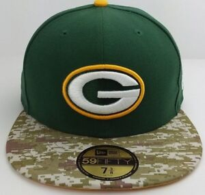 Green Bay Packers Salute to Service New Era 59FIFTY fitted hat cap ... 05c34d1e979