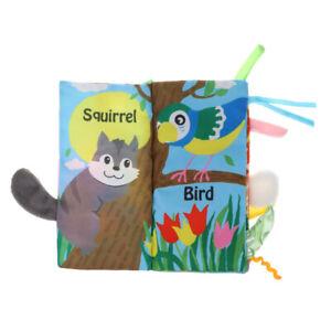 Giocattolo-Libro-Forme-Animale-Apprendimento-Sensoriale-Resistente-Bambini