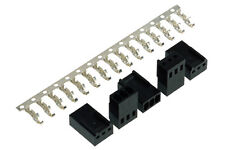 Female 3-Pin  Fan Connector Black x 5 (Molex #2510) with Pins x 15 ROHS
