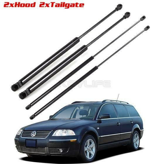 2 Pairs Hood & Tailgate Lift Supports Struts Shocks For