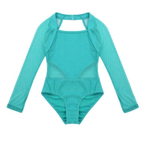 Kid Girl Lace Ballet Dance Leotard Gymnastics Dancewear Workout Bodysuit Costume