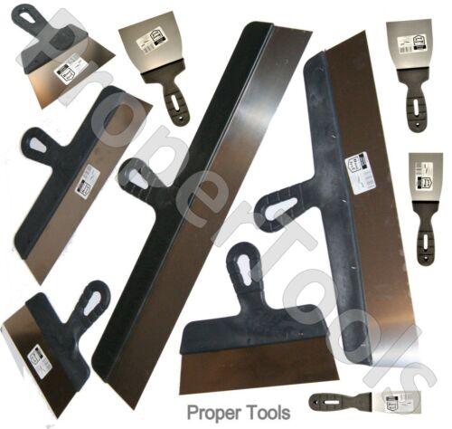 10 x rubaneuses couteau plâtrerie rendu spatule couteaux de remplissage gypse Set DIY