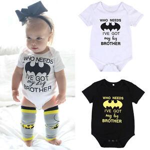 12c1e6b6e Newborn Infant Baby Boy Girl Batman Romper Bodysuit Jumpsuit Clothes ...