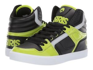 06d26dafc5cf Image is loading MENS-OSIRIS-CLONE-SKATEBOARDING-SHOES-NIB-LIME-BLACK-