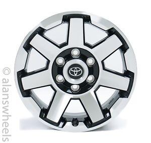 4-New-Toyota-Tacoma-4Runner-17-034-Factory-OEM-Black-amp-Machined-Wheels-Rims-75154B