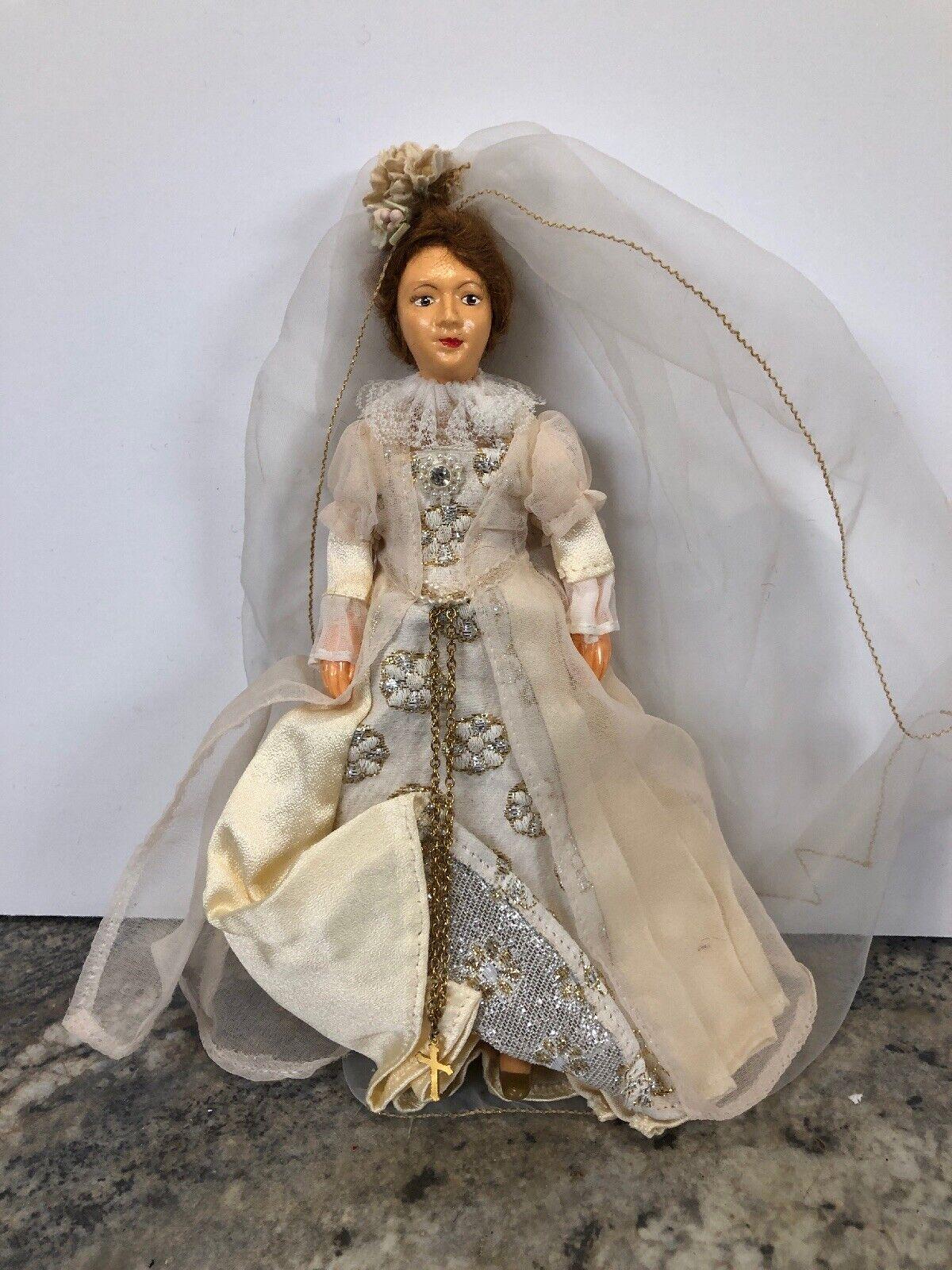 Raro 8  Peggy Nisbet Muñecas María Reina de Escocia Scott's Escocia Vestido Con Cruz