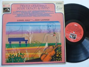 Details about Pieces celebres violon piano LIONEL GALI JEAN LAFORGE C053  11641
