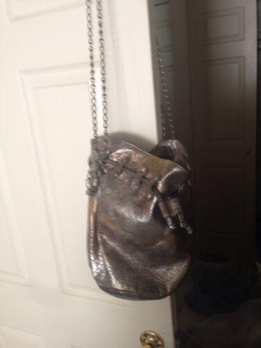 Posse Metallic Multicolor Leather Bucket Crossbody