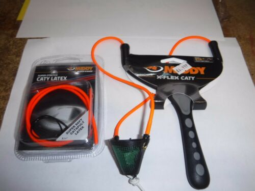 Middy X Flex Mesh Pellet Fishing Catapult  319  plus free elastic pellet wagg