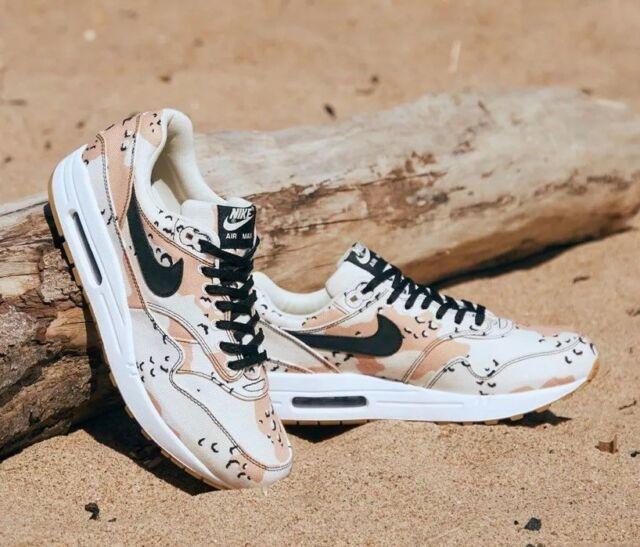 Nike Air Max 1 Premium Beach Desert Camo Black Praline Mens Size 7