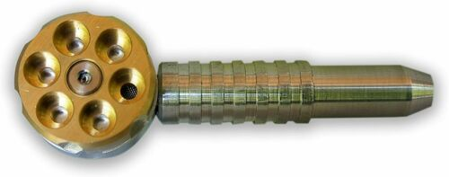 ORIGINAL Metal SIX SHOOTER Patented US Made Aircraft Aluminum Genuine FREE SHIP