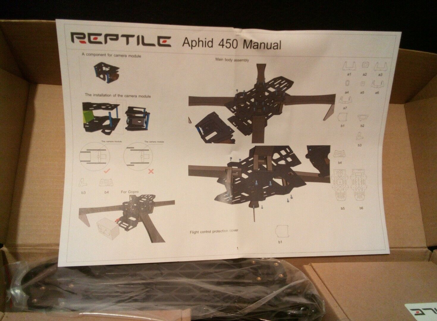 Drone Reptile Aphid 450 With Motors And Camera NEW