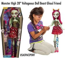 "28"" Monster High My Size Doll Voltageous Beast Freaky Friend BLUE + 22 PIECE Set"