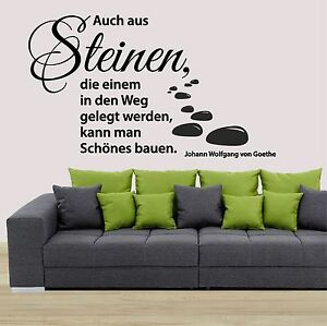 wandtattoo aufkleber auch aus steinen zitat spr che spruch b ro flur sticker ebay. Black Bedroom Furniture Sets. Home Design Ideas
