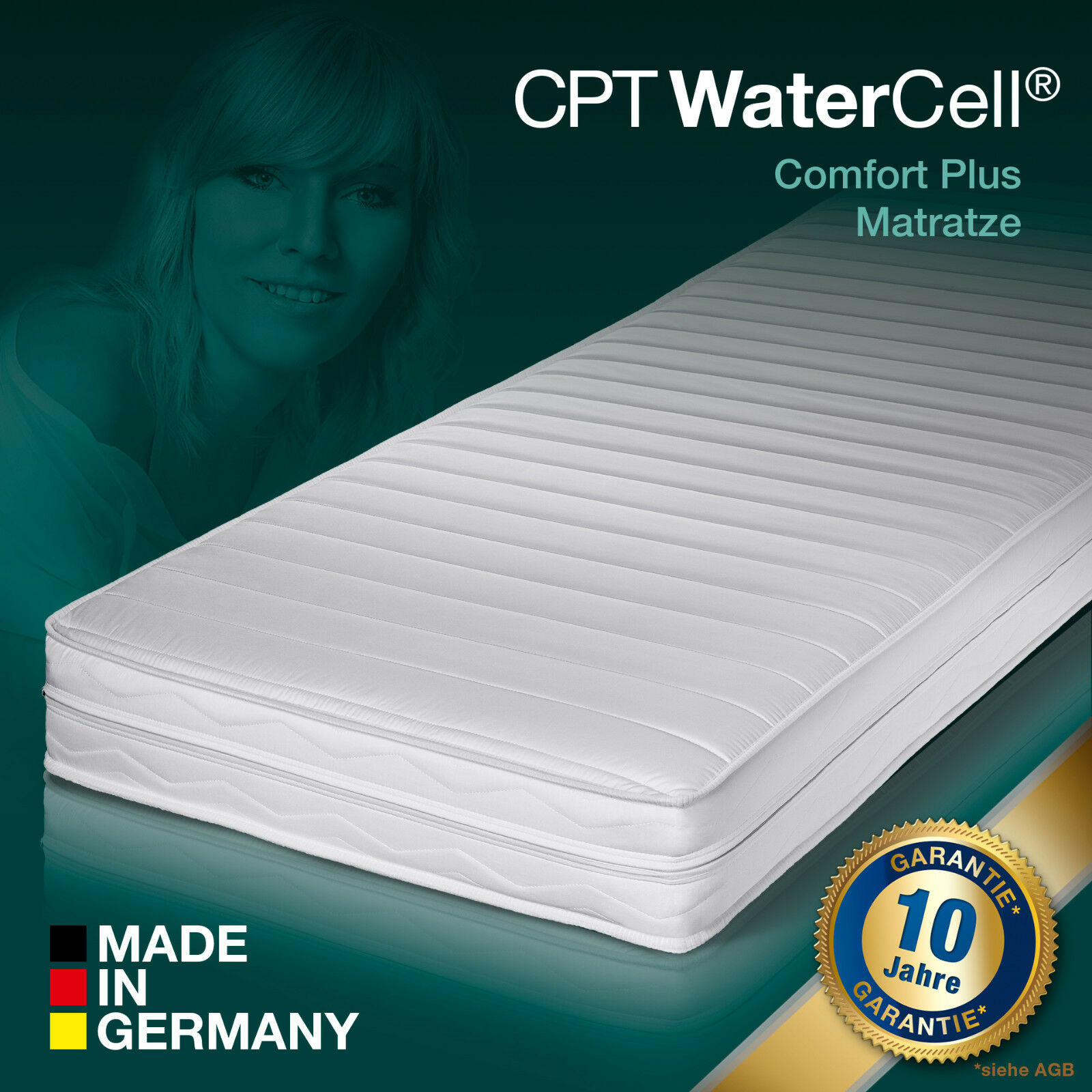 7 Zonen CPT WaterCell® Wellness Comfort+ Kaltschaum Matratze 140x200 H2