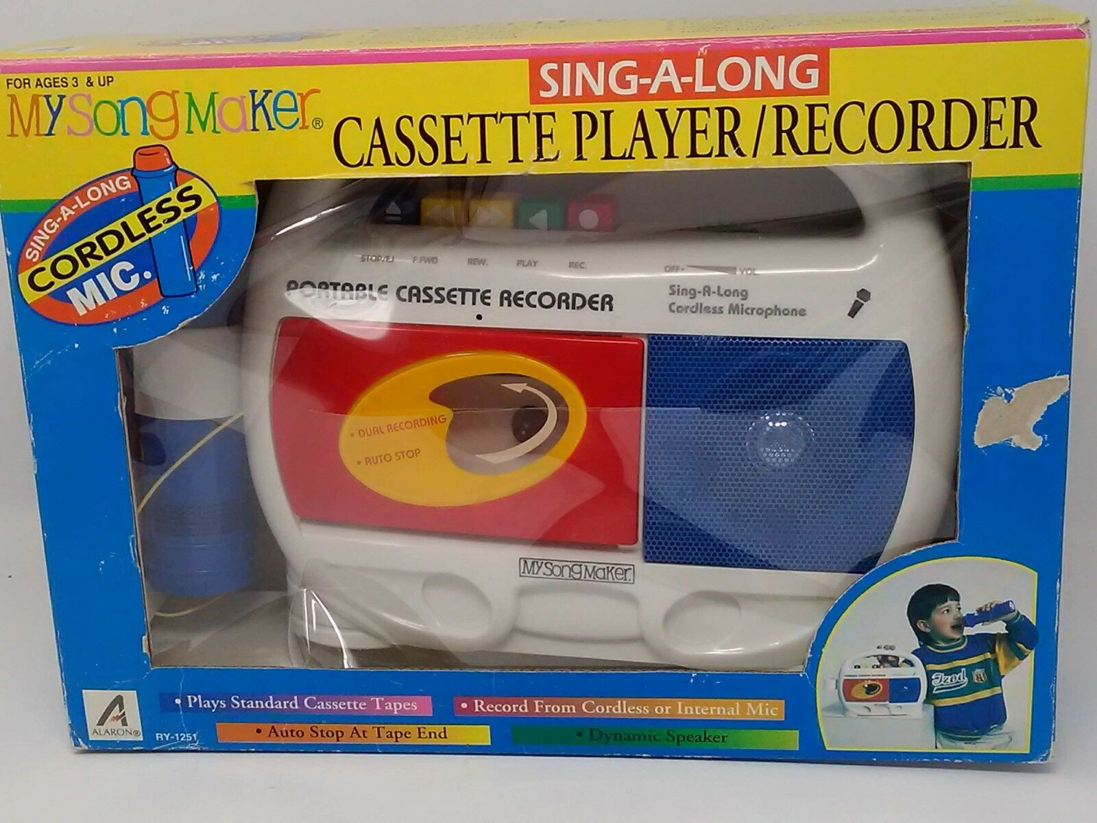 Cassette Player Recorder Sing-A-Long My Song Maker RY-1251 New in Box