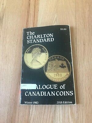 1983 Standard Catalogue Of Canadian Coins Tokens And Paper Money Charlton Ebay