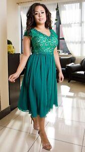 Elegant Ladies Wedding Formal Party Evening Womens Designer Dress UK Size 8 - 22