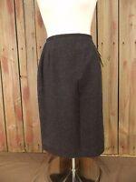 Rena Rowan For Saville Wool Skirt Womens Black Size 8 $62