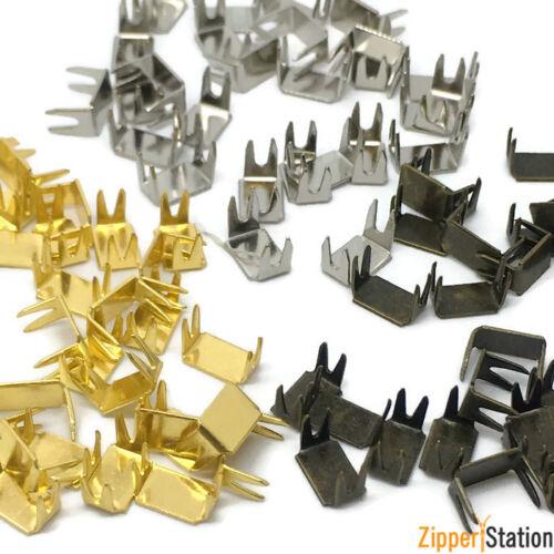 Brass Zip Stopper Repair Size #3 #5 #8 #10 Zipper Bottom Stops Gold Silver