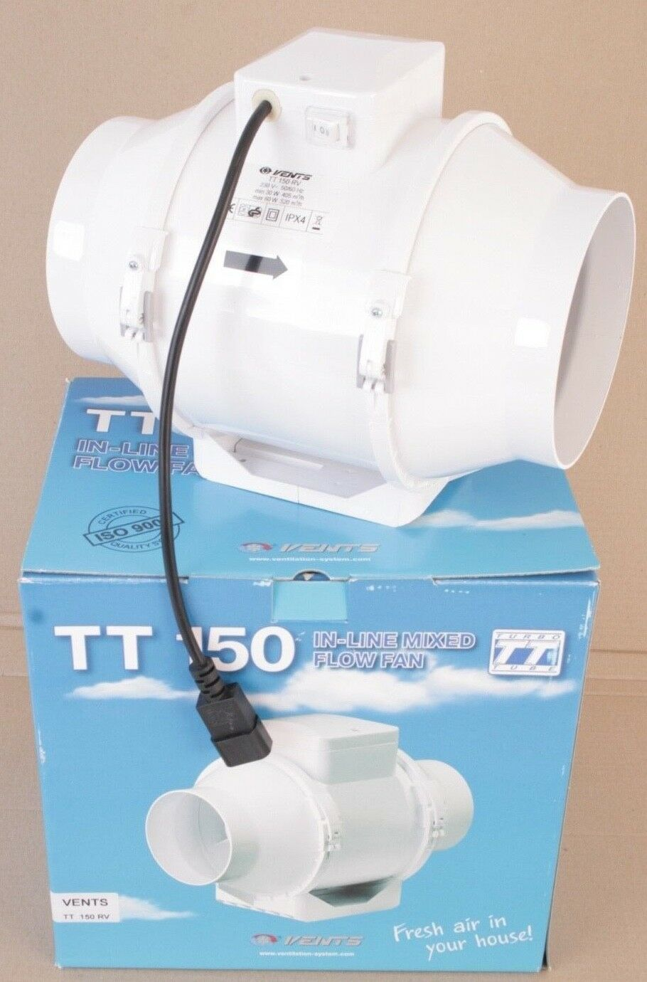 VENTS   TT 150 Rv   in-line  Fan    extracteur    aspirator  2 SPEED  new .