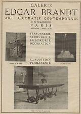 J0668 Galerie EDGAR BRANDT - Paris - Pubblicità d'epoca - 1929 Old advertising
