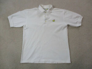 Masters-Polo-Shirt-Adult-Small-White-Augusta-National-Golfer-Golf-Rugby-Mens