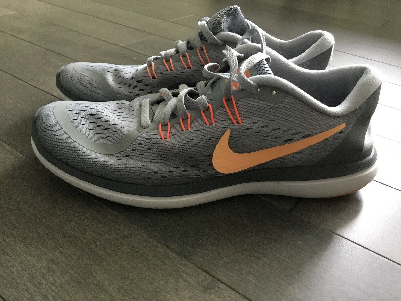 Nike Flex 2017 RN Womens 898476-003 Wolf Grey Sunset Glow Running Shoes Size O