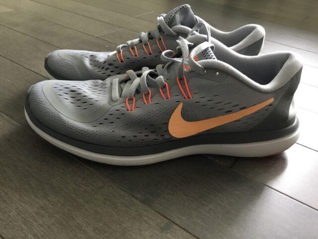 Nike Flex 2017 RN Womens 898476-003 Wolf Grey Sunset Glow Running Shoes  Size O e7ab4eb8a