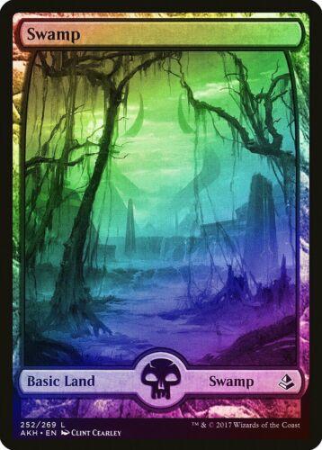Swamp Full Art MTG CARD ABUGames FOIL Amonkhet NM-M Basic Land Extended 252