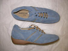 Theresia M. Gwen Blue Suede Laced Shoe 6 M
