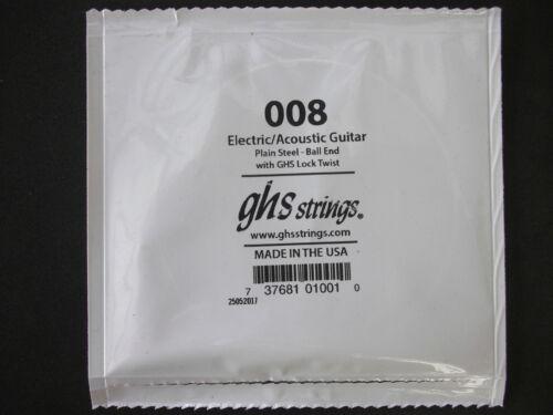 GHS  Einzel-Saite  E-Gitarren-Saite  008