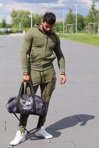 PIMD Essential Khaki Fitness Gym Running Hoody// Hoodie Training Zip Pockets New