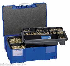 Berner Holzschrauben-Sortiment 2600 tlg Senkkopf im Systainer Stapelbox + Bitbox