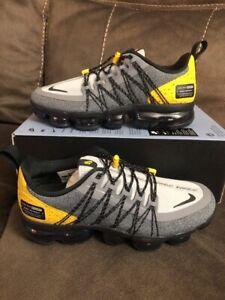 3e53eca645 Nike Air Vapormax Run Utility Size 7 Wolf Grey/black Yellow AQ8810 ...