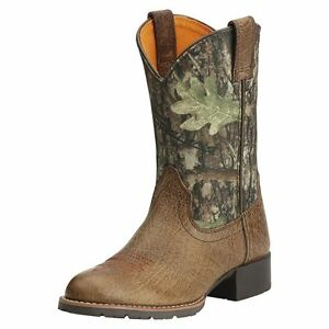 df8a5088e8da9 Image is loading ARIAT-CHILDRENS-YOUTH-CAMO-HYBRID-WESTERN-COWBOY-BOOTS-