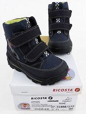 Stiefel Pepino Ricosta Boots Winter Lauflernschuhe Echtleder, Textil blau Gr. 21