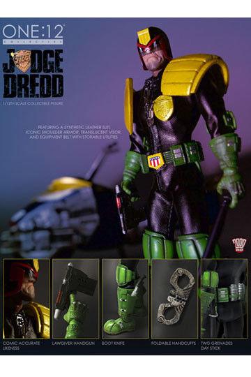 Mezco 1 12 personnage Juge Drouged Classique Style Figurine Bonne Vêtements