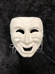 White-Blank-Comedy-Paper-Mache-Masquerade-Mask-Mardi-Gras-Unisex-Halloween