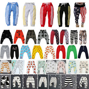 Kids-Baby-Girls-Boys-Harem-Pants-Bottoms-Loose-Sports-Jogger-Sweatpants-Trousers