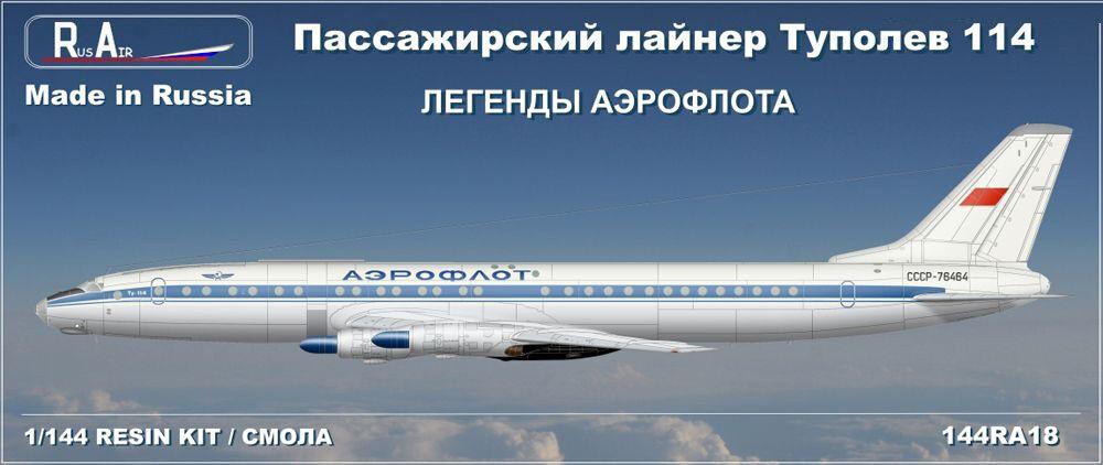 1 144 PAS-Models. Rus-Air. Tupolev Tu-114 Aeroflot Classic