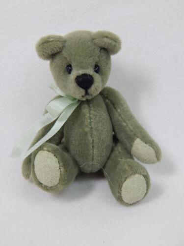 "World of Miniature Bears 2.5/"" Plush Bear Olive #337 Collectible Miniature Bear"