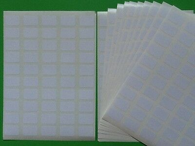 200 Small White Sticky Labels 18 x12mm Price Stickers Blank Self Adhesive Tags