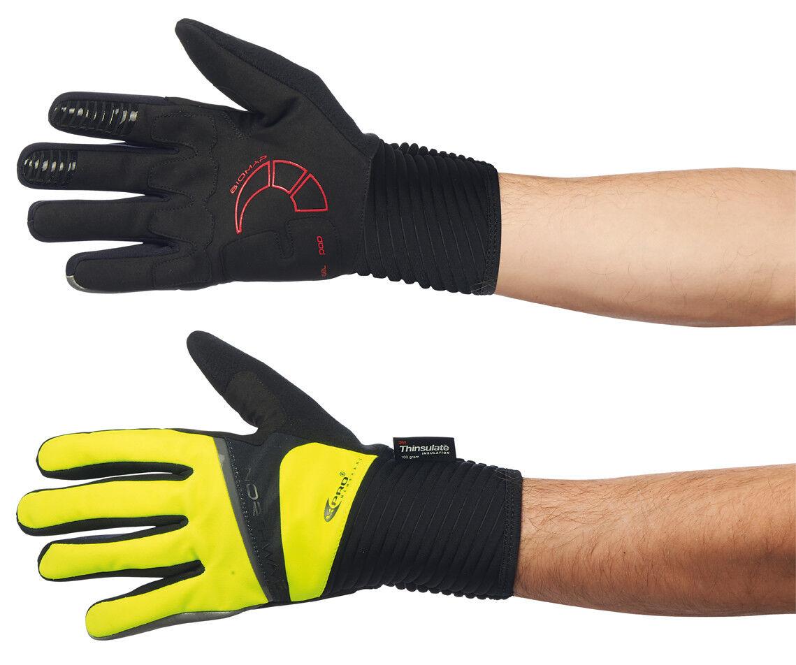 Northwave Logo Winter Fahrrad Handschuhe yellow black 2018
