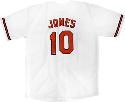 Adam Jones Autographed Baltimore Orioles White Jersey   eBay