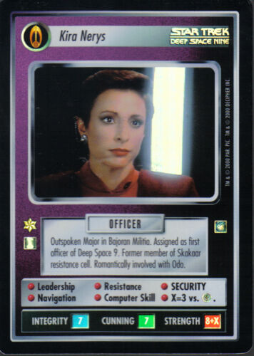 STAR TREK CCG REFLECTIONS SUPER RARE KIRA NERYS