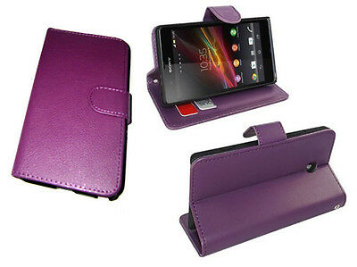 For Sony Xperia Z L36i LT36i L36h C6603 C660x Book Leather Cover Pouch Case UK