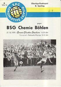 FC Lok Leipzig 1 OL 78//79  BSG Chemie Böhlen