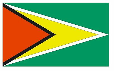 GUYANA Flag Sticker MADE IN THE USA F205 CHOOSE SIZE FROM DROPDOWN