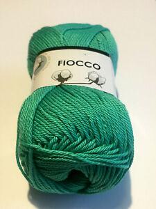 Dettagli su Filati maglia gomitoli 100% Cotone uncinetto 2,5 verde